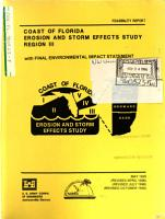 Coast of Florida Erosion and Storm Effects Study  Region III  Palm Beach County PDF