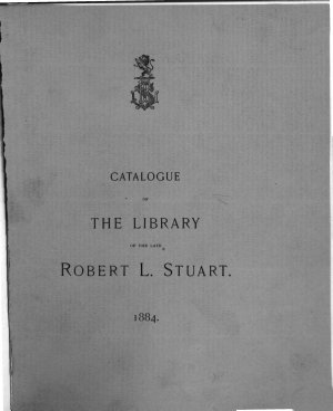 Catalogue of the Library of Robert L  Stuart PDF