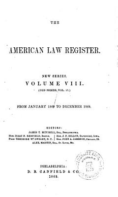 The American Law Register PDF