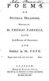 Poems on several occasions, publ. by mr. Pope