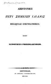 Aristonici Peri sēmeiōn Iliados reliquiae emendatiores