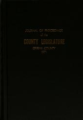 Journal of Proceedings of the Greene County Legislature PDF