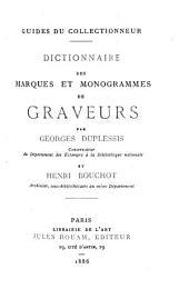Dictionnaire des marques et monogrammes de graveurs