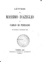 Lettere di Massimo d'Azeglio a Carlo di Persano