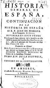 Historia General de España o Continuacion de la Historia de España