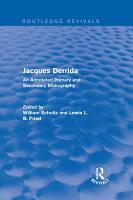 Jacques Derrida  Routledge Revivals  PDF