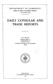 Daily Consular and Trade Reports: Issues 229-305