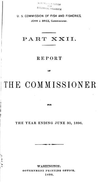 Download Report of the Commissioner for     Book