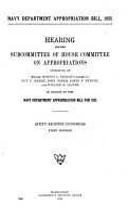 Navy Department Appropriation Bill  1925 PDF