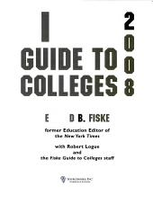 Fiske Guide to Colleges 2008 PDF