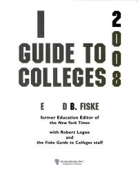 Fiske Guide to Colleges 2008