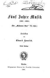 Fünf Jahre Musik, 1891-1895
