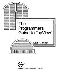 The Programmer s Guide to TopView PDF