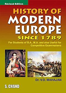 History of Modern Europe Since 1789 Book