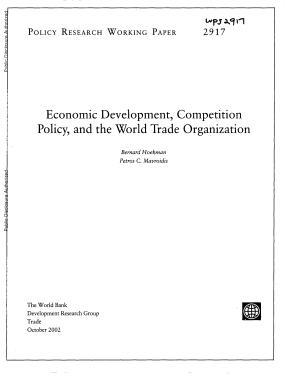 Economic Development  Competition Policy  and the World Trade Organization PDF