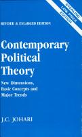 Contemporary Political Theory PDF