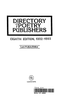Directory of Poetry Publishers PDF