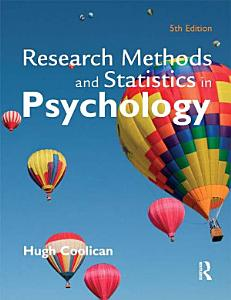 Research Methods and Statistics in Psychology  Fifth Edition Book
