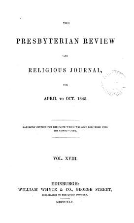 The Presbyterian review and religious journal PDF