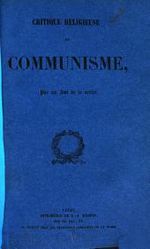 Critique religieuse du communisme
