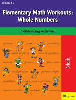 Elementary Math Workouts  Whole Numbers PDF