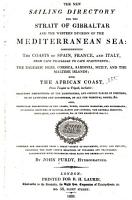 The New Sailing Directory for the Strait of Gibraltar and the Western Division of the Mediterranean Sea PDF