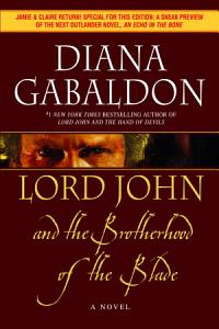 Lord John and the Brotherhood of the Blade Book