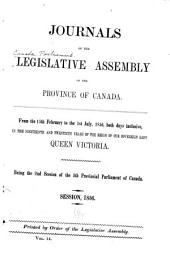 Journals of the Legislative Assembly of the Province of Canada: Volume 14
