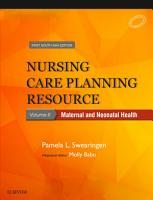 Nursing Care Planning Resource  Vol  2  Maternal and Neonatal Health  First South Asia Edition PDF