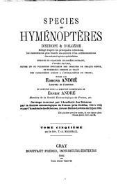 Species hyménoptères d'Europe & d'Algérie: Les braconides, par T. A. Marshall