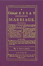 A Critical Essay Concerning Marriage