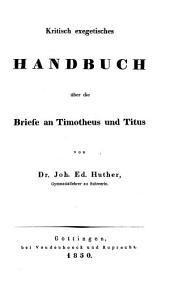 Die Briefe an Timotheus und Titus