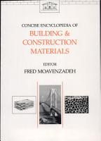 Concise Encyclopedia of Building and Construction Materials PDF
