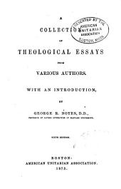 Collection of Theological Essays from Various Authors ...