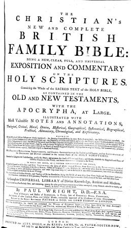 The Christian s New and Complete British Family Bible PDF