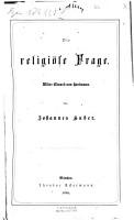 Die religi  se Frage  wider Eduard von Hartmann PDF