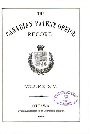 Canadian Magazine of Science and the Industrial Arts  Patent Office Record PDF