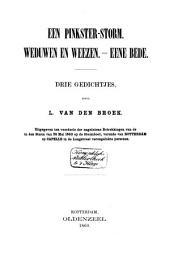 Een Pinkster-storm: Weduwen en weezen ; Eene bede : drie gedichtjes