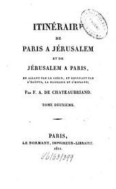 Itinéraire de Paris à Jerusalem: Volume2