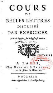 Cours de belles-lettres distribué par exercices: Volume4