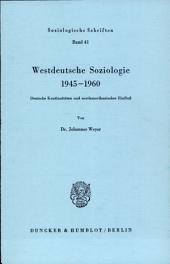 Westdeutsche Soziologie 1945-1960: