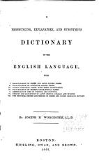 A Pronouncing  Explanatory  and Synonymous Dictionary of the English Language     PDF