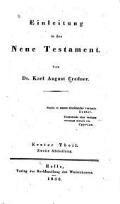Einleitung in das Neue Testament: Band 2