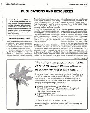Asian Studies Newsletter PDF