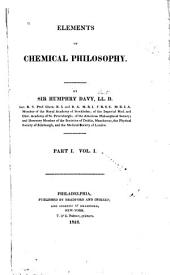 Elements of Chemical Philosophy: Part 1, Volume 1, Part 1