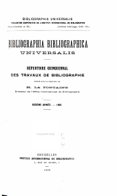 Bibliographia bibliographica universalis