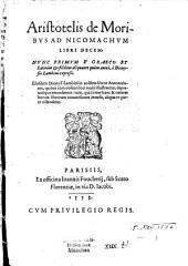 De moribus ad Nicomachum libri X