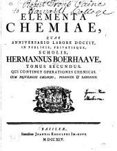 Elementa chemiae: Volume 2