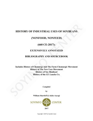 History of Industrial Uses of Soybeans (Nonfood, Nonfeed) (660 CE-2017)