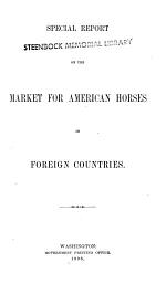 Special Report on the Market for American Horses in Foreign Countries